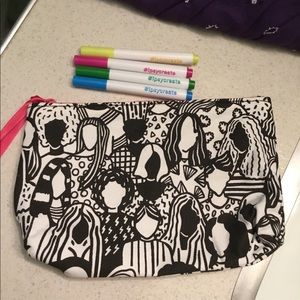 Brand new color & style makeup ipsy bag w/ markers